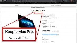 Apple iMac Pro doprodej