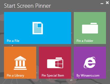 Pomocí Start Screen Pinner připnete ve Windows 8 jakoukoli aplikaci nebo soubor do nové nabídky Start