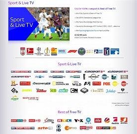 Stanice v balíčku Sport & Live TV