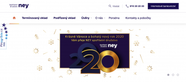 Vánoční přání od NEY spořitelního družstva v roce 2019.