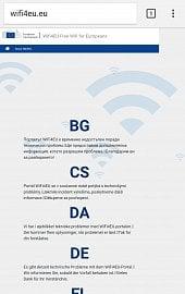 Chybová hláška portálu WiFi4EU po jeho spuštění