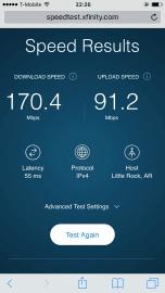 Rychlost připojení pár metrů od budky LinkNYC