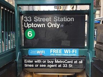 Wi-Fi signál ve stanicích metra