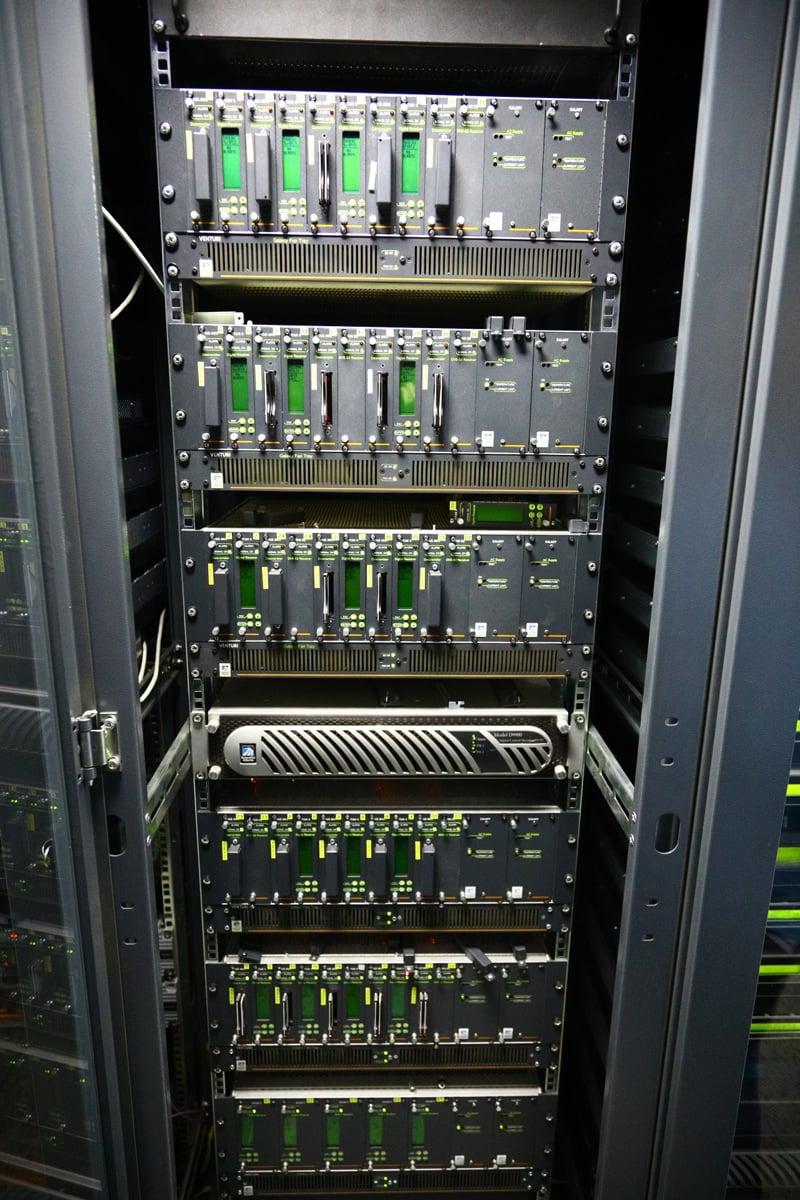 Technické zázemí pražské centrály UPC