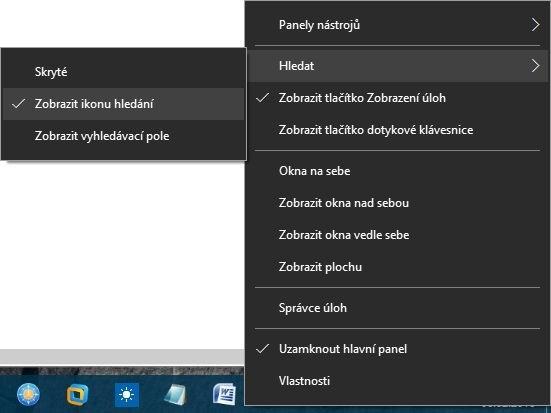 Pole pro hledání ve Windows