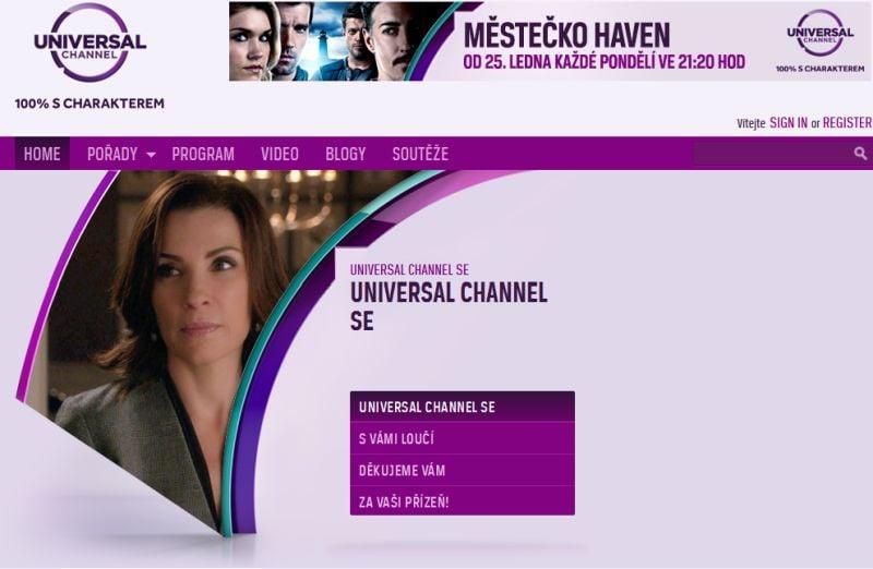 Universal Channel - konec 2016