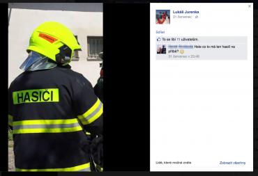 Veřejný profil Lukáše Jurenky na Facebooku.