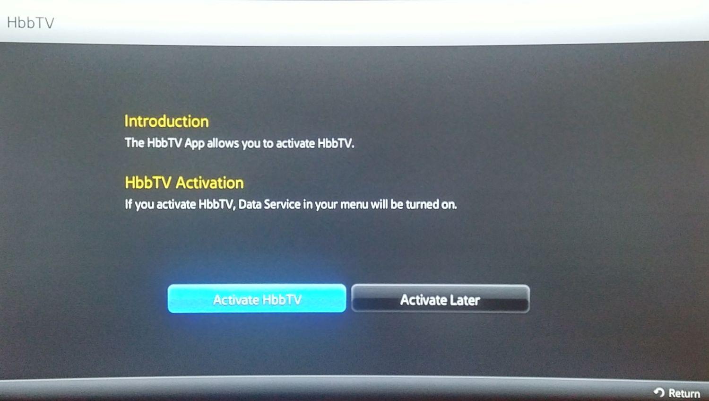 Samsung 2015 - zprovoznění HbbTV