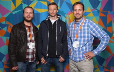 Zleva Adam Herout, Robert Prokeš a Petr Ocásek(na WebExpu v září 2013)
