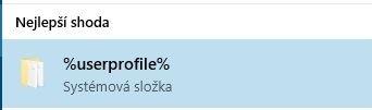 Systémová složka %userprofile%