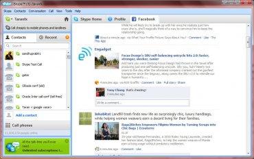 Skype 5 s integrací Facebooku