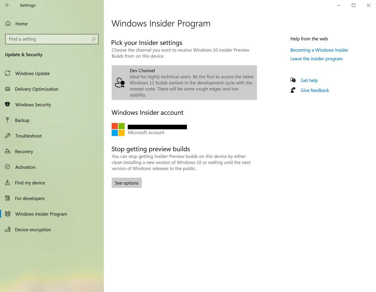 Pokud chcete mít k dispozici sestavení nového operačního systému Windows 11, pak se ujistěte, že jste přihlášeni k odběru v kanálu Dev Channel.
