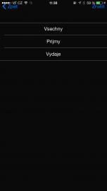Ukázka bankovni aplikace SIM Toolkit na SIM Vodafone. Mobil s iOS.