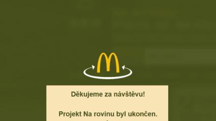 Vitalia.cz: McDonald'sukončil projekt Na rovinu