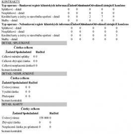 Výpis z registrů BRKI a NRKI.