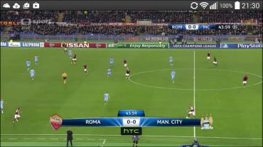 Mobilní aplikace ČT Sport pro platformu Android.