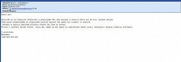 Podvodná zpráva, která láká na stažení škodlivého kódu