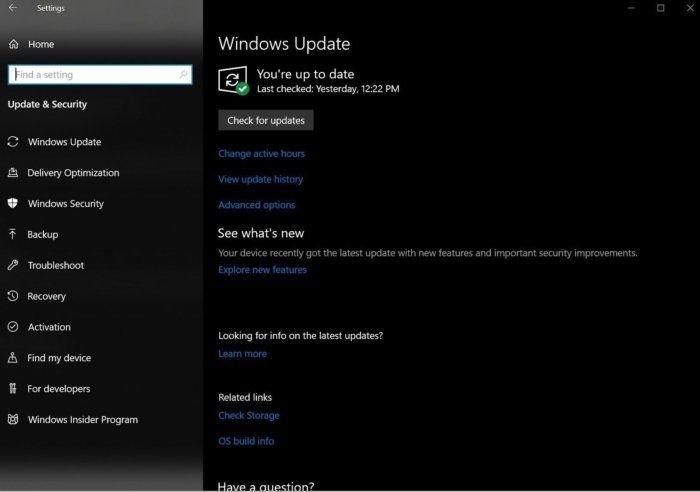 Aktualizace systému pomocí Windows Update
