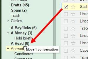 Štítek v Gmailu