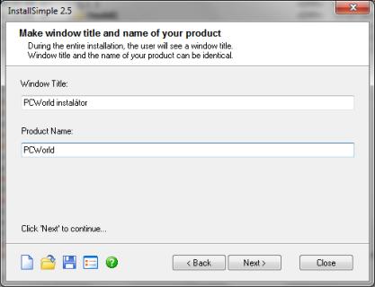 Pomocí InstallSimple si vytvoříte instalátor