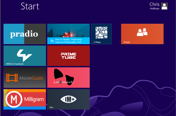 Aplikace pro nové rozhraní ve Windows 8