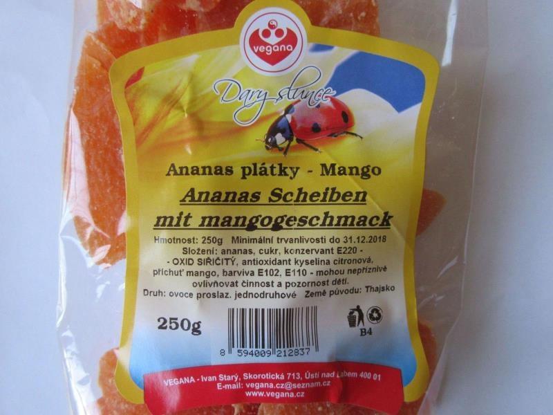 Ananas plátky Mango