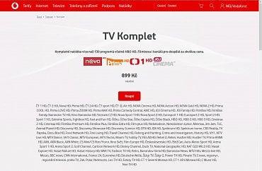 Prezentace nabídky Vodafone TV není zrovna uživatelsky přívětivá