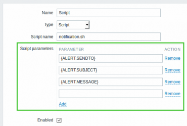Zabbix 3.0 Script Parameters