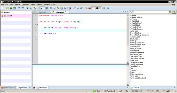 EverEdit je náhradou poznámkového bloku pro programátory