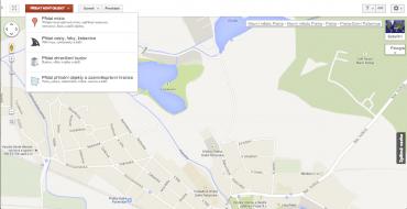 Rozhraní Google Map Maker