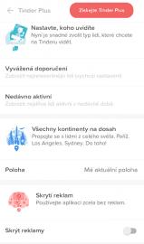 Nastavit si také můžete uživatele, které chcete vidět, případně se propojit s lidmi na jiném kontinentu. Nebo si zakázat zobrazení reklam.