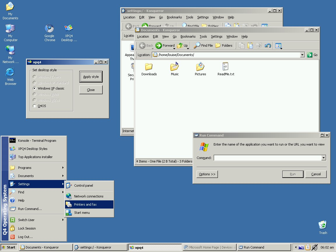 Q4OS: distro imitující Windows XP