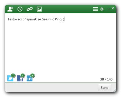 Seesmic Ping odesílá příspěvky na sociální sítě