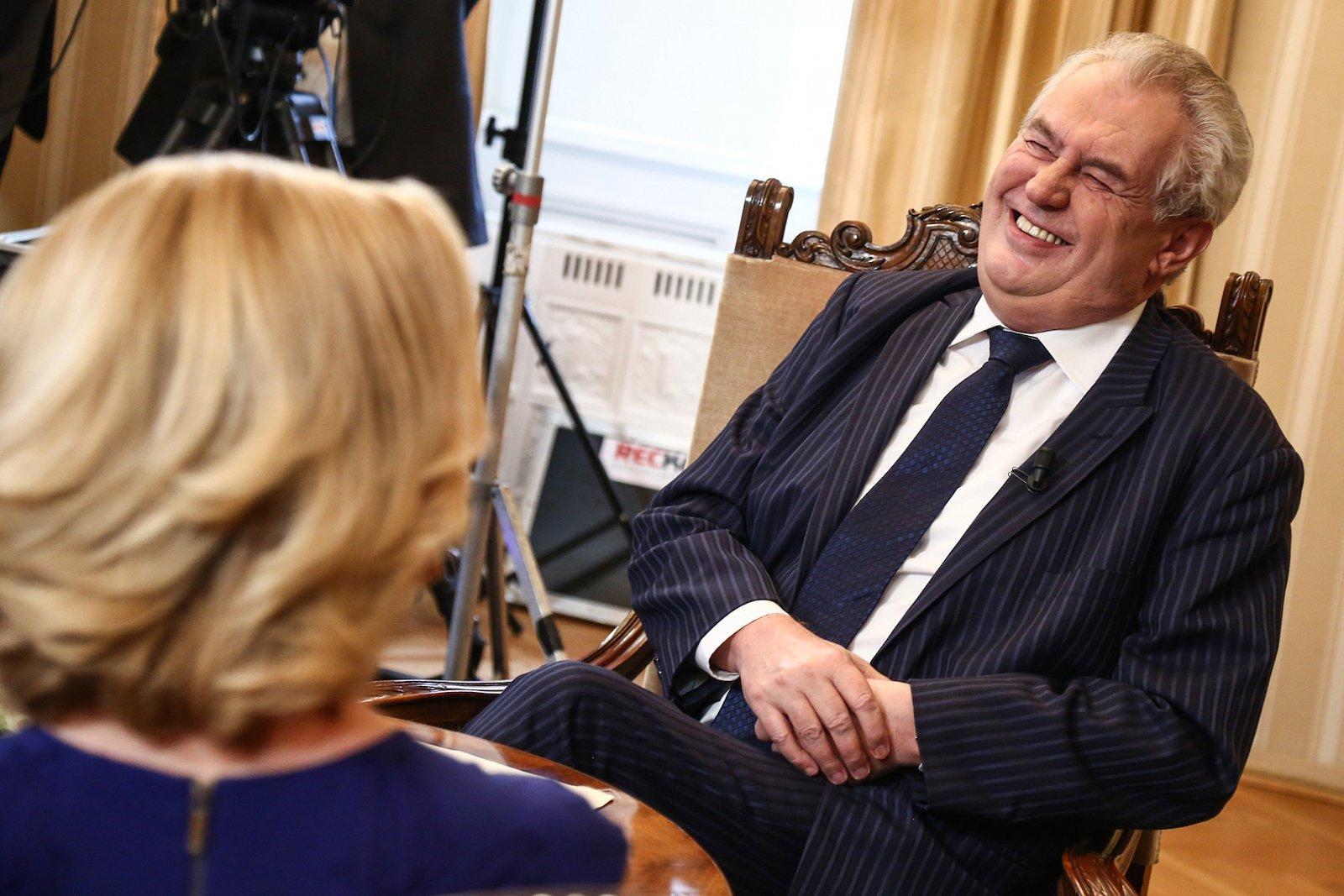 Miloš Zeman hostem diskusního pořadu Partie na televizi Prima