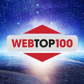 Logo 18. ročník Slavnostního vyhlášení soutěže WebTop100