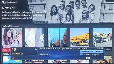 Seznam.cz TV – informace o kanálu. Jak vidíte – nic tu není.