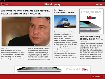 Aplikace E15 pro iPad nemá podle Petra Bednáře o inzerci nouzi.