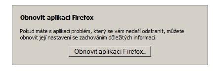 obnovit firefox