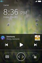 Ovládání přehrávání hudby na uzamčené obrazovce (Firefox OS 1.3)