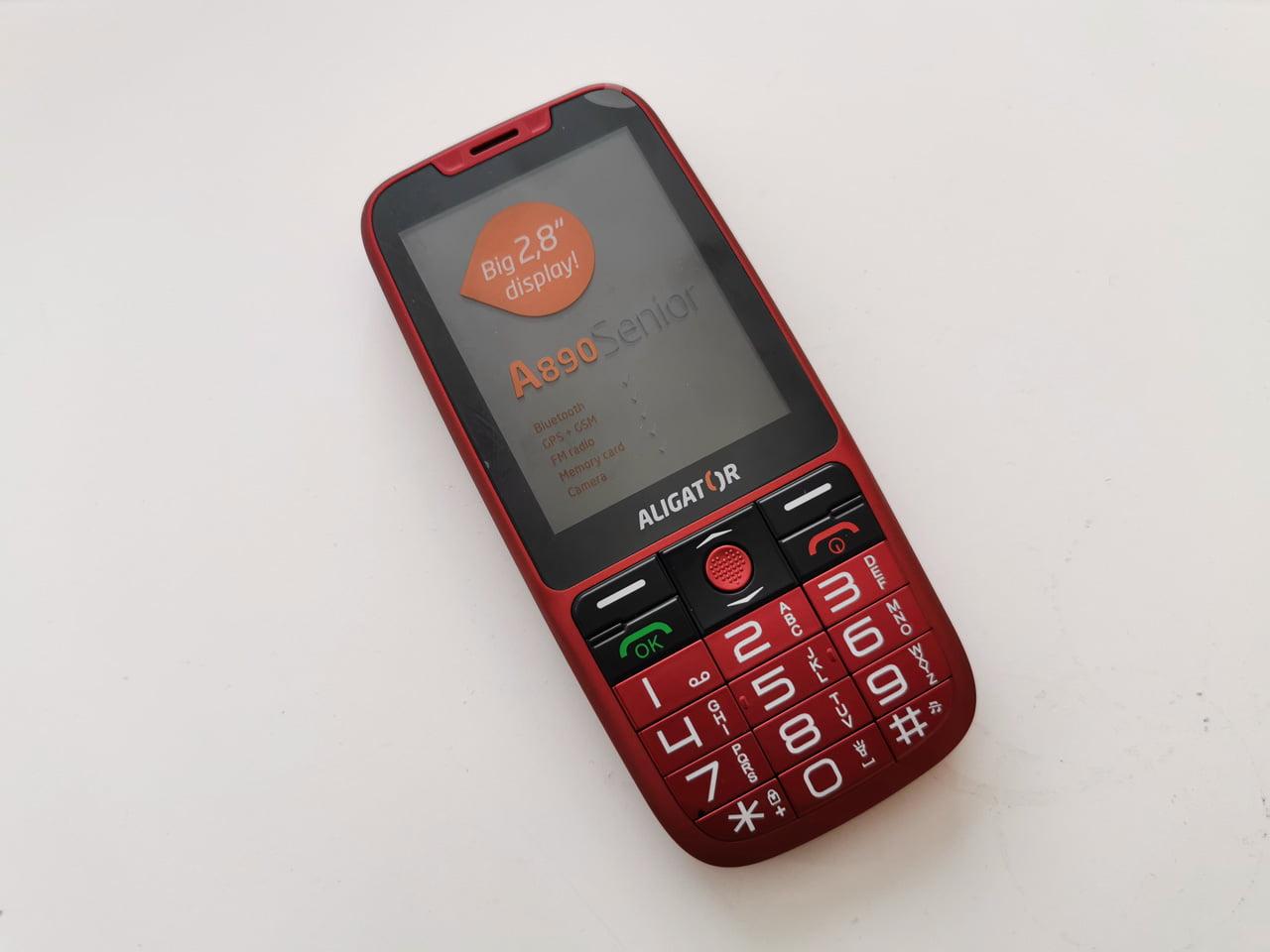 Český telefon Aligator A890 Senior