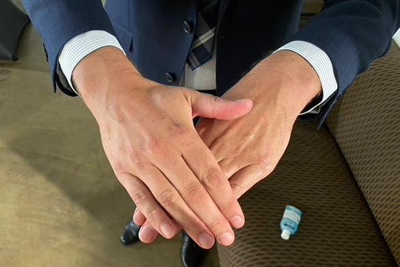 Správný postup při dezinfekci rukou