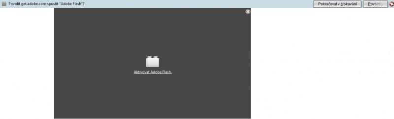 Zablokovaný zásuvný modul ve Firefoxu