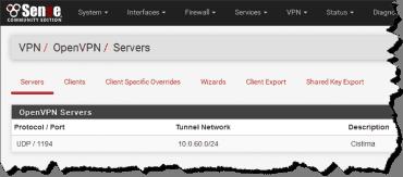 pfSense: OpenVPN server