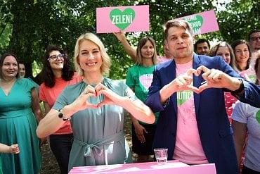 Magdalena Davis a Michal Berg, spolupředsedové Zelených