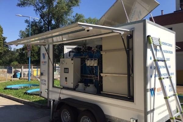 Mobilní úpravna vody zajišťovaná spol. Wero Energy