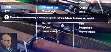 """Úpravy obrazových nastavení neměla nikdy značka Philips přehnaně moc. Tady si můžete povypínat obvyklé věci a hlavně """"živé barvy"""". Režim Kino a režim Přirozený jsou výborné a ani Standardní do něhož televizor naběhne po prvotní instalaci není špatný!"""