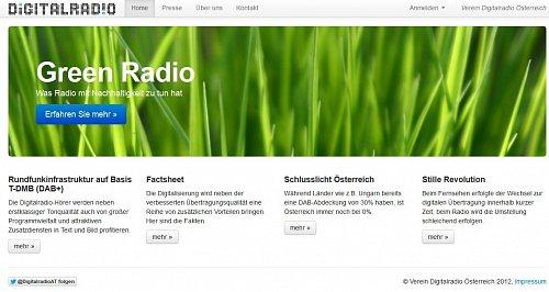 Úvodní stránka webu http://www.digitalradio-oesterreich.com/