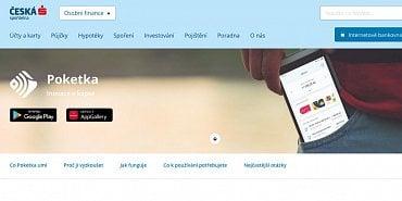 Česká spořitelna do loňska nabízela virtuální kartu v rámci aplikace Poketka (11.11.2020).