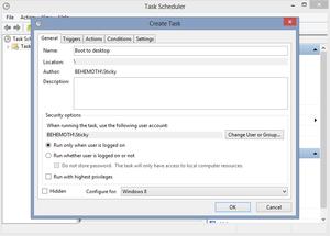 Plánovač úloh Windows 8