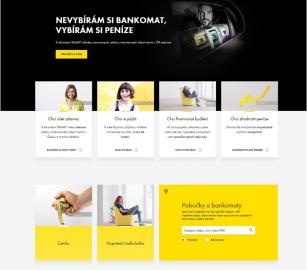 Nový design webovách stránek Raiffeisenbank.